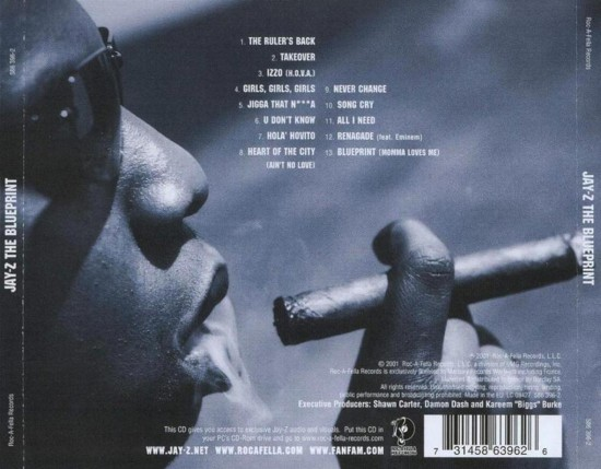 jay_z_-_the_blueprint_(2001)-back Мятежно-написанный «Renagade» на обратной стороне The Blueprint.