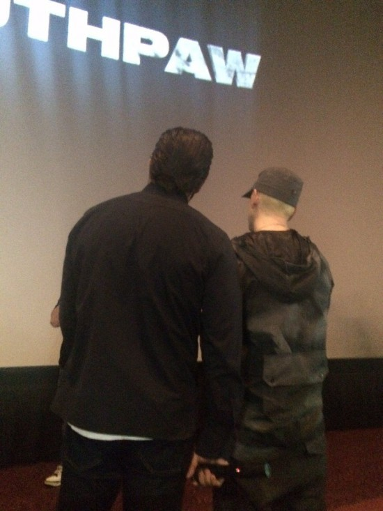 Eminem and Jake Gyllenhaal surprise at Southpaw screening in Livonia