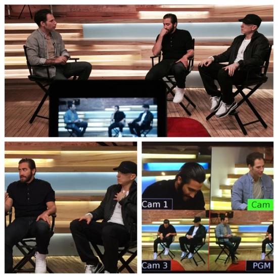 2015.07.22 - Eminem и Jake Gyllenhaal посетили студию YouTube Space в Нью-Йорке