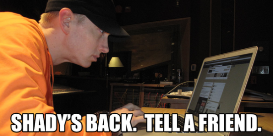 Завтра Eminem проведёт Q&A сессию Левша Southpaw