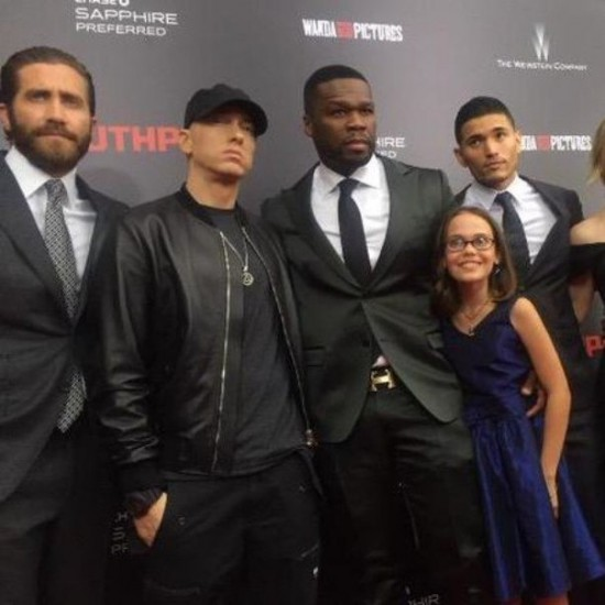 Eminem 50 cent Southpaw in New York July 21, 2015