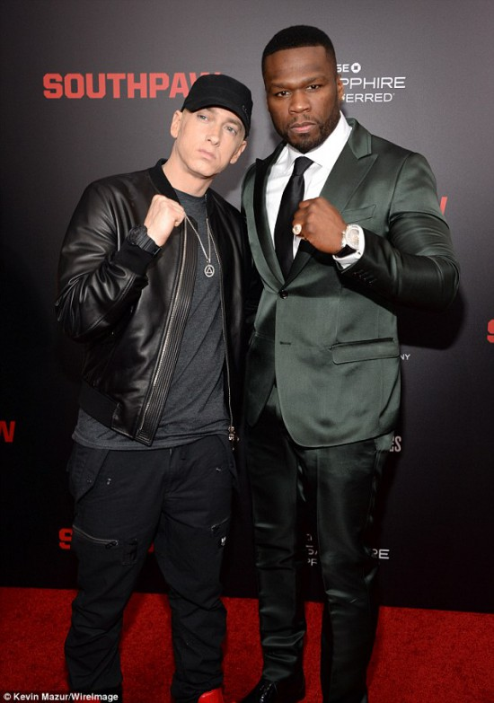 Eminem and 50 Cent 2 Southpaw in New York July 21, 2015