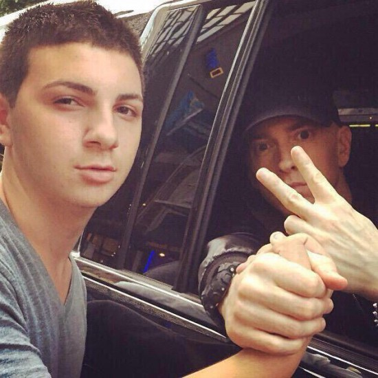 Eminem and fan Southpaw in New York July 21, 2015