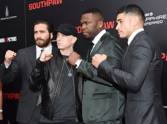Jake Gyllenhaal, Eminem, 50 Cent & Miguel Gomez