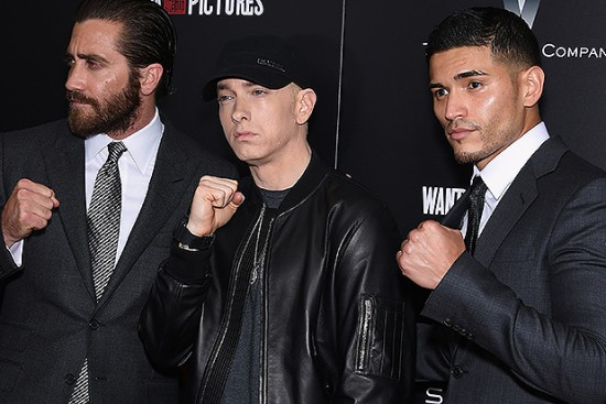 Jake-Gyllenhaal-Eminem-and-Miguel-Gomez-attend-Southpaw-New-York-Premiere