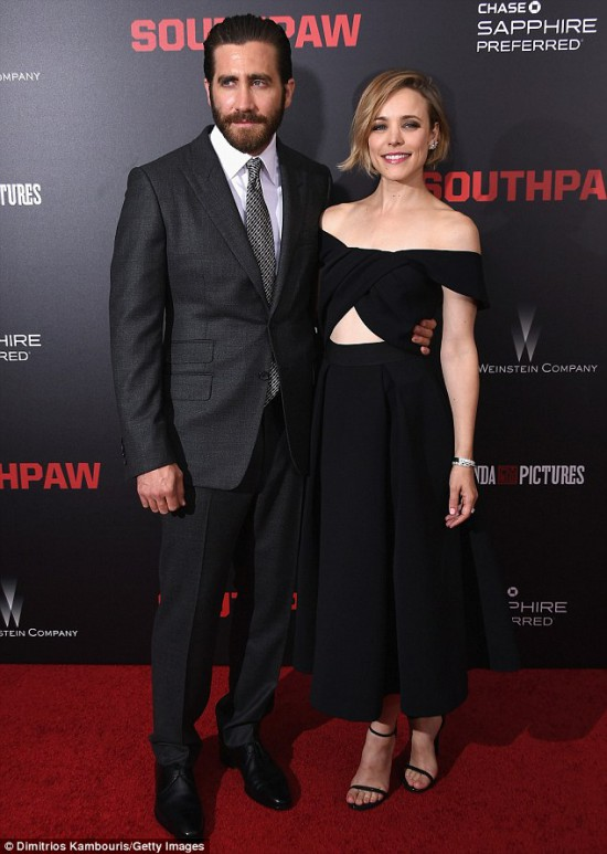 Jake Gyllenhaal and Rachel McAdams Southpaw 2 Southpaw in New York July 21, 2015