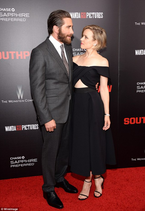 Jake Gyllenhaal and Rachel McAdams Southpaw Southpaw in New York July 21, 2015