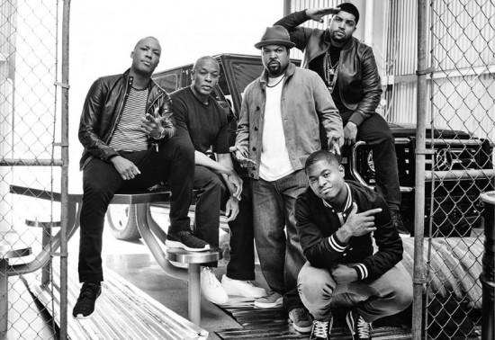 Dr Dre и актёры Straight outta Compton