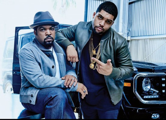 Ice Cube and OShea Jackson Jr.