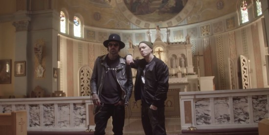 За кадром: Eminem и Yelawolf на съёмочной площадке «Best Friend»