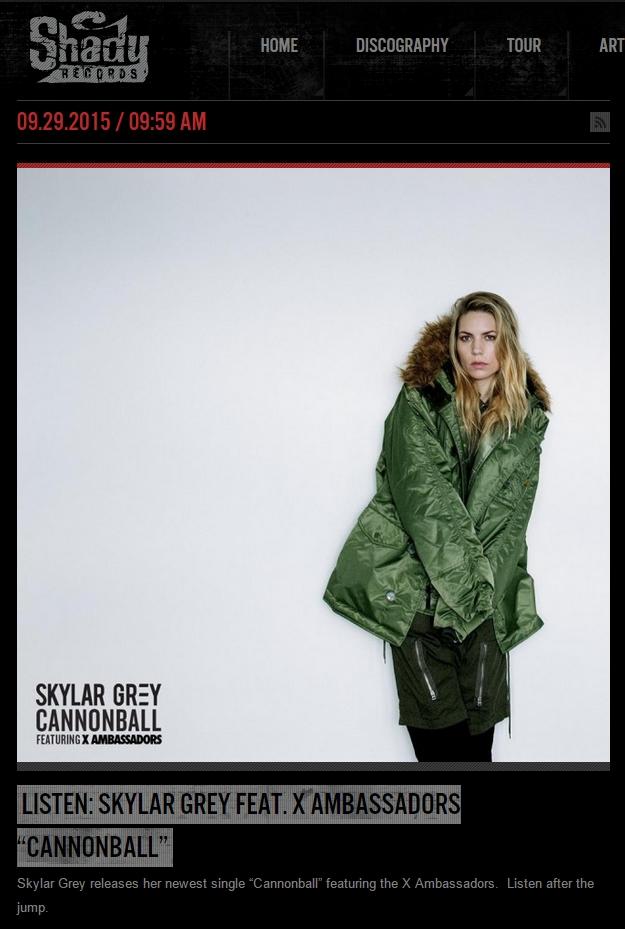 Skylar Grey - Cannonball feat. X Ambassadors