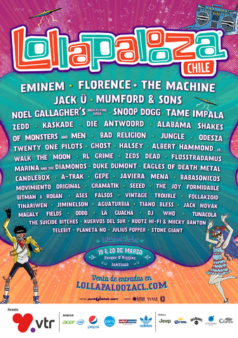 Eminem is performing in Chile for Lollapalooza 2016