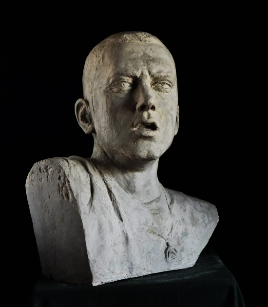 Aleksander Walijewski - Bust of Eminem. Final Effect - Gypsum Cast