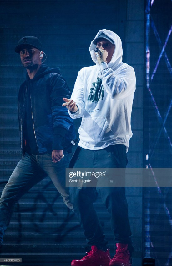 2015.11.06 - Eminem Big Sean Royce at Joe Louis Areba