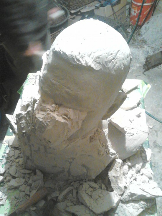 Aleksander Walijewski - Bust of Eminem. Gypsum Casting Process