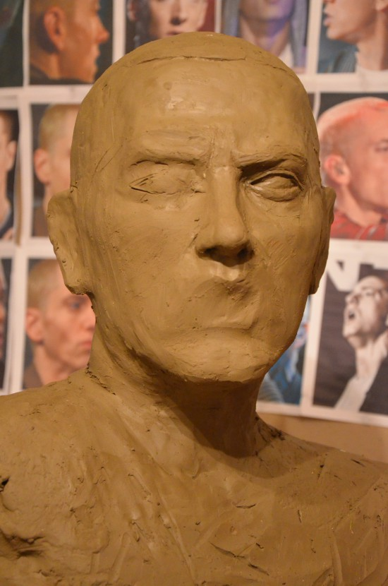 Aleksander Walijewski - Bust of Eminem. Sculpture in Clay (Unfinished)