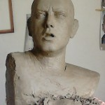 Aleksander Walijewski - Bust of Eminem. Sculpture in Clay (Unfinished)