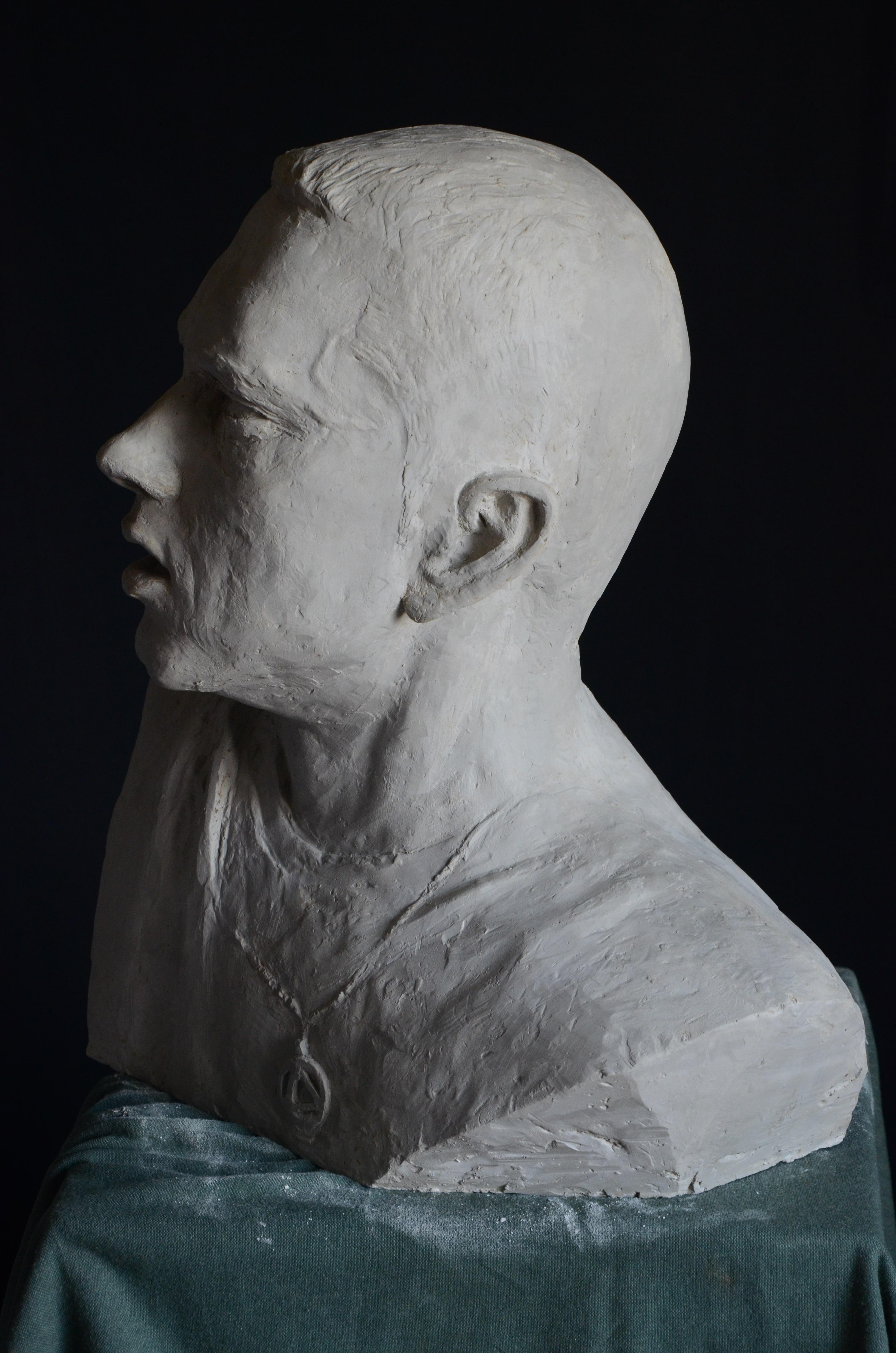 Фанат Эминема создал бюст рэпера из гипса. Eminem, Aleksander Walijewski