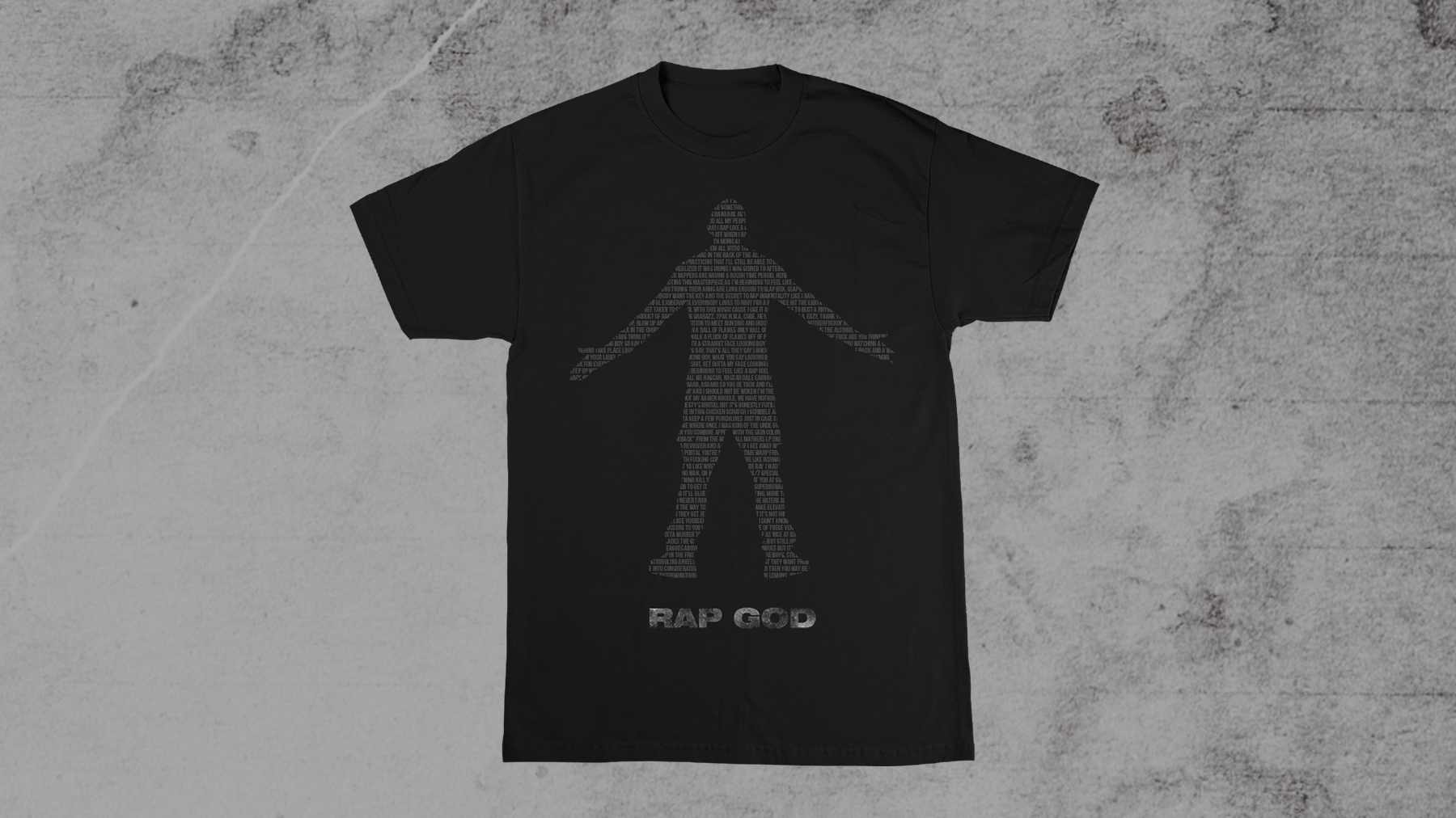 Eminem Rap God 2.0 T-Shirt Black on Black