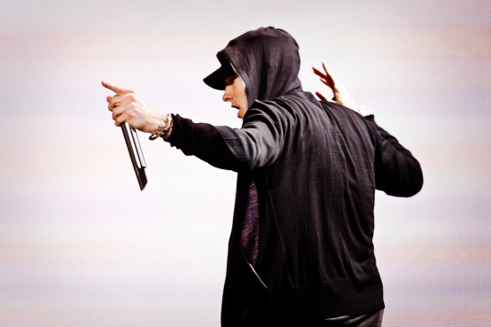 USA - Music - Eminem Performs in New York City 13 Sep 2010 --- USA - Music - Grammy Award winning American rapper Eminem performs in support of his album 'Recovery' on the 'Home and Home' tour at Yankee Stadium in New York. --- Image by © Chad Batka/Corbis