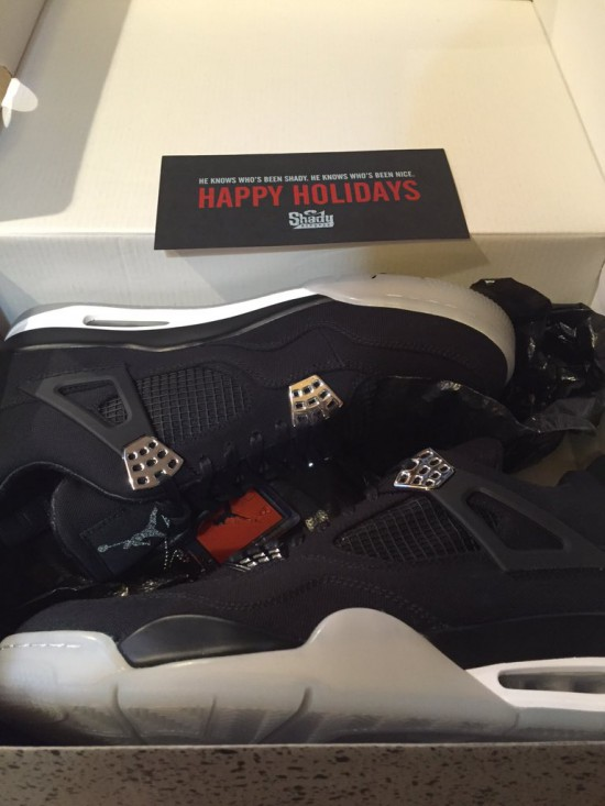 Eminem Christmas Air Jordan IV 4
