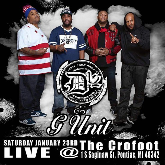 Группы D12 и G-Unit выступитя в Детройте