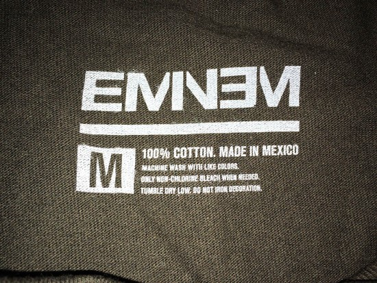 Eminem Rap God 2.0 T-Shirt Black on Black 2015
