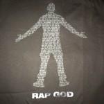 Eminem Rap God 2.0 T-Shirt Black on Black 2015