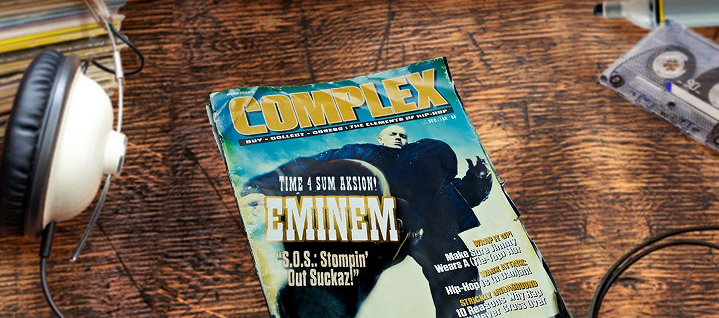 ноябрьский выпуск Complex с вернувшимся Слимом Шейди на обложке с автографом Noah Callahan-Bever и Brent Rollins