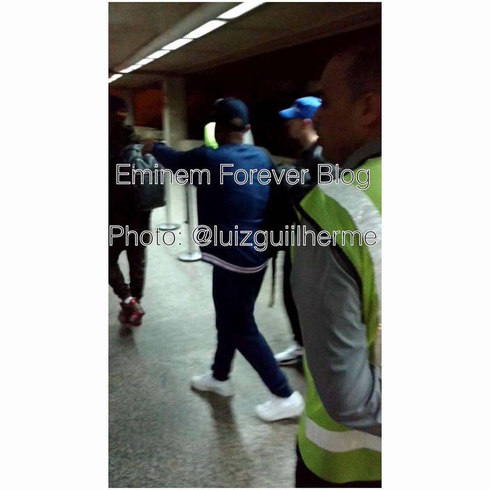 Eminem прилетел в Бразилию