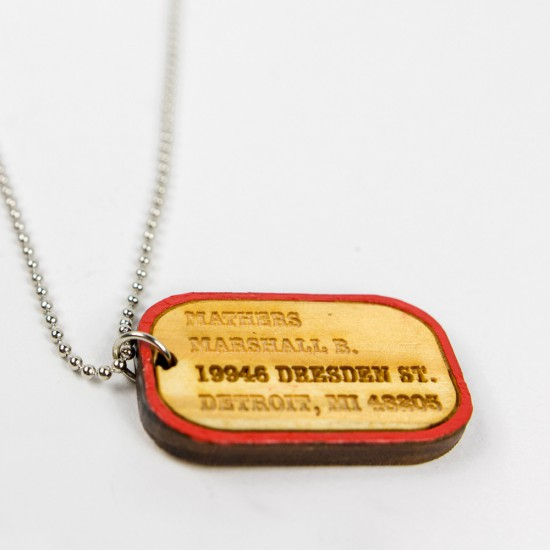 Eminem Good Wood Dog Tag - Red Dog Tag