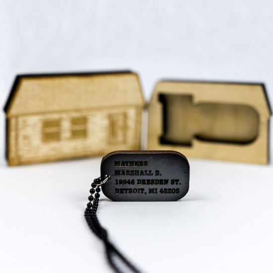 Eminem Good Wood Dog Tag - Black Dog Tag