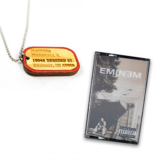 Eminem Good Wood Dog Tag x MMLP Cassette