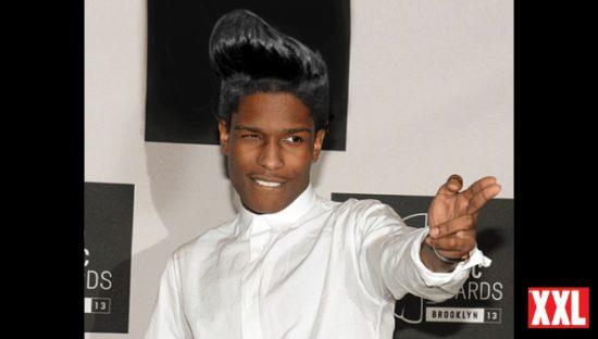 A$ap Rocky с причёской, как у Rihanna