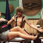 Порноактриса Лиза Энн на съёмках с Эминемом в клипе «We Made You»