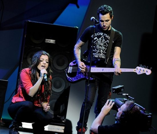 Bebe Rexha and Pete Wentz of Black Card's perform onstage at the 13th Annual Young Hollywood Awards at Club Nokia on May 20, 2011 in Los Angeles, California. (Photo : Getty Images/Kevin Winter)  Read more: http://en.yibada.com/articles/141148/20160713/monster-perfect-eminem-song-bebe-rexha.htm#ixzz4Fc6qx6iC