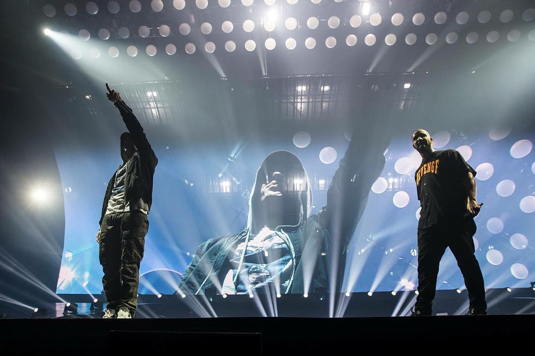Eminem and Drake @ Detroit 16.08.2016