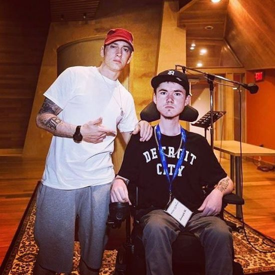 2016.08.25 - Eminem Make-A-Wish Joe Ward