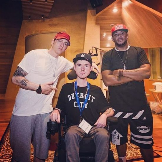 2016.08.25 - Eminem Mr Porter Make-A-Wish Joe Ward