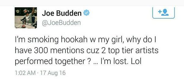 Как отреагировал Joe Budden на выступление Эминема и Дрейка в Детройте?