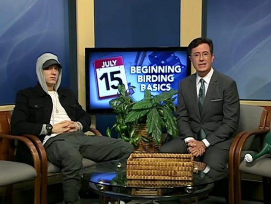 """Eminem в гостях у Стивена Кольбера в """"Only In Monroe"""". Часть 4"""