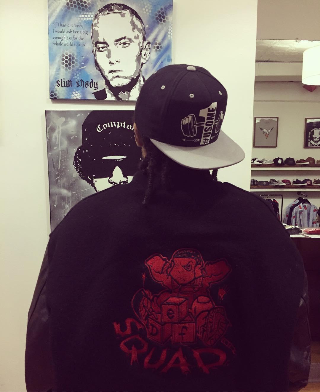 Легендарный Redman подарил редчайшую куртку Def Squad в качестве подарка ко дню рождения Эминема