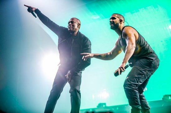 Dr. Dre и Ice Cube выступили на концерте Дрейка в Инглвуде