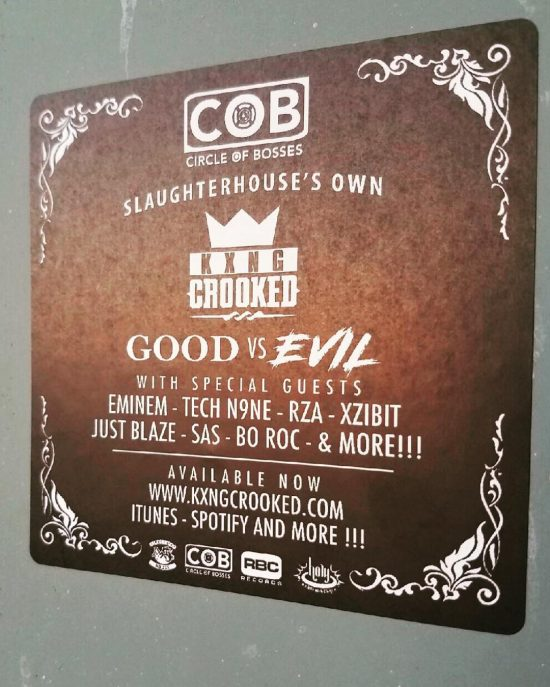 KXNG Crooked Good vs Evil COB Sticker