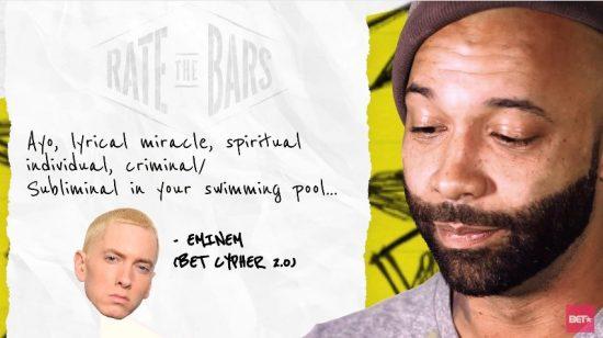 Joe Budden оценил панчлайны рэперов, среди которых Eminem, Drake, Meek Mill и Royce