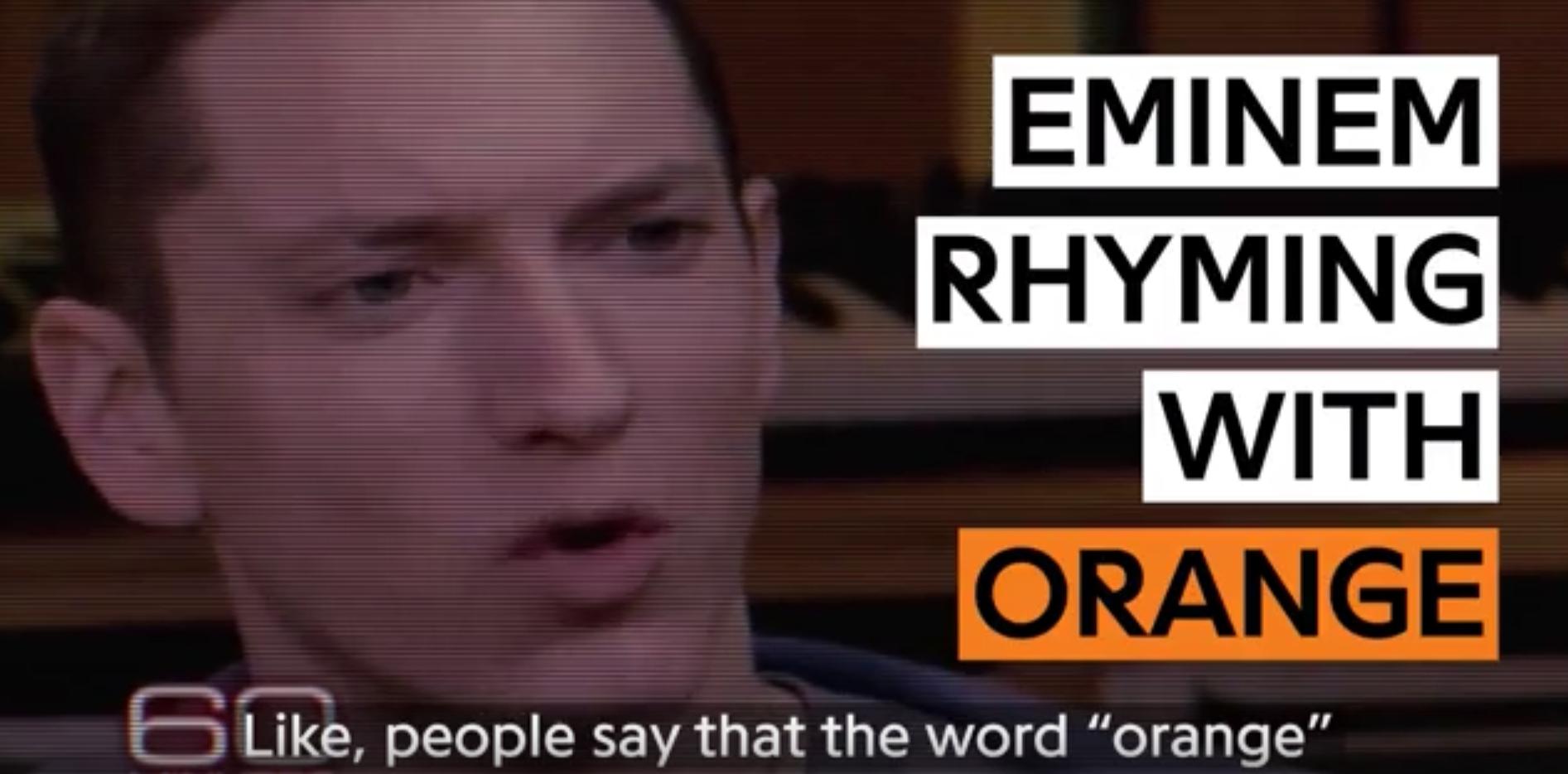 Портал Genius собрал все строчки Эминема с рифмой на слово «Orange»