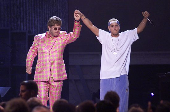 Eminem and Elton John at 2001 Grammy Awards 2