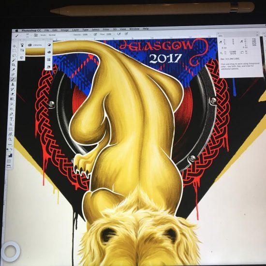 Из последних работ можно отметить постер для фестиваля «Glasgow Summer Sessions» и лейбла Griselda records