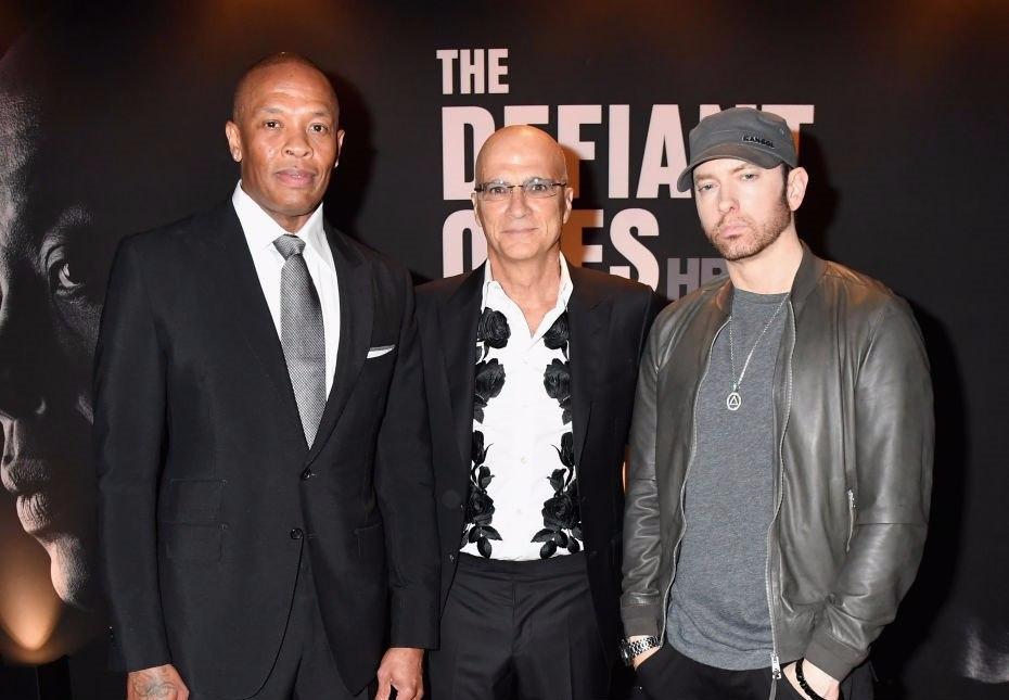 Dr. Dre x Jimmy Iovine x #Eminem @ #DefiantOnes LA Premiere.