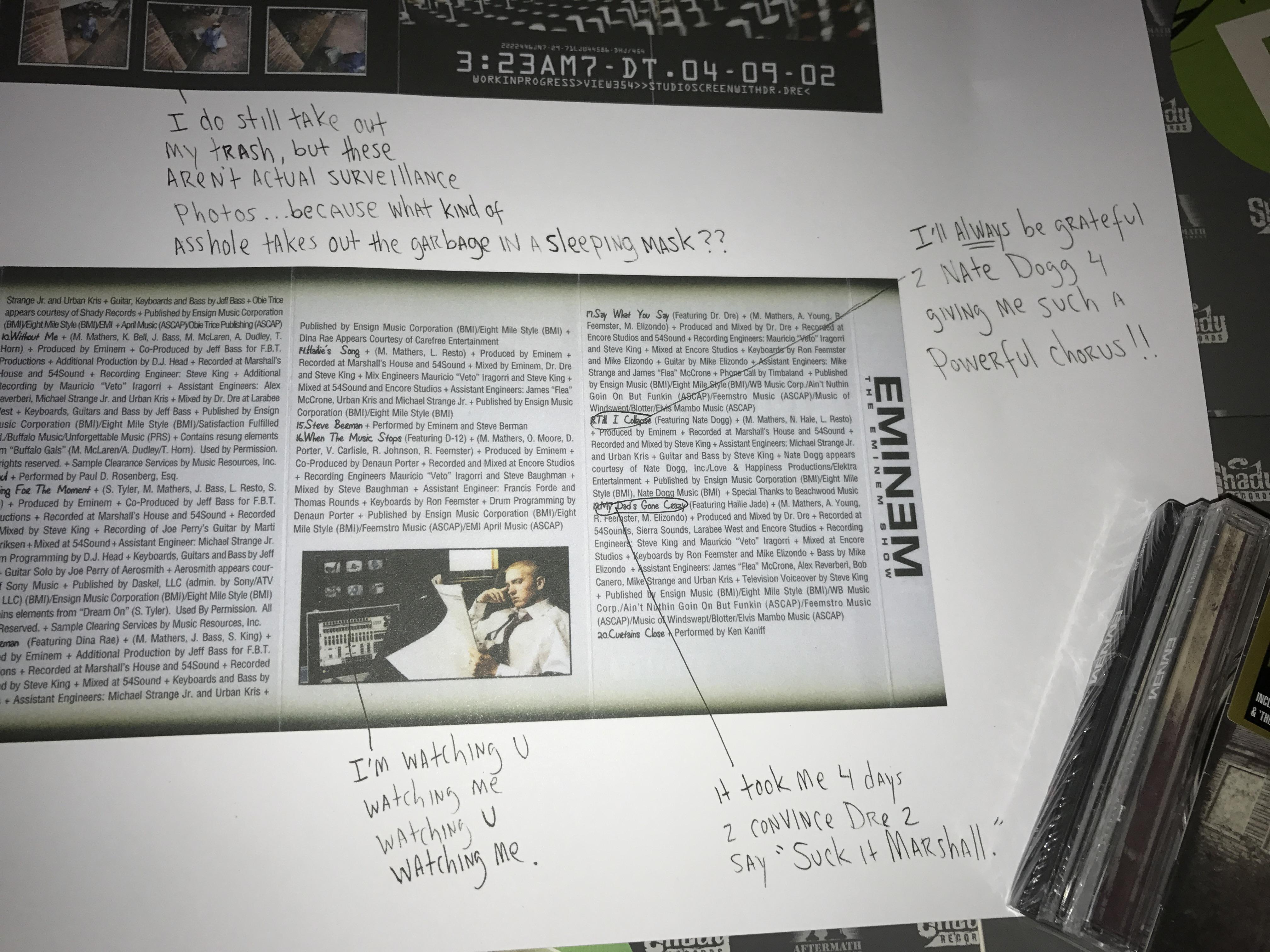 31 мая Eminem выпустил специальный мерчендайз к 15-летней годовщине своего альбома «The Eminem Show». В редакцию «Eminem.Pro» пришёл один из бандлов. Давайте распаковывать юбилейную капсулу от Эма